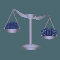 balanza: calidad frente a cantidad